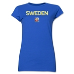 Sweden FIFA Women's World Cup Canada 2015(TM) Junior Women's T-Shirt (Royal)