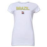 Brazil FIFA Women's World Cup Canada 2015(TM) Junior Women's T-Shirt (White)