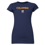 Colombia FIFA Women's World Cup Canada 2015(TM) Junior Women's T-Shirt (Navy)