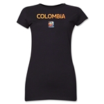 Colombia FIFA Women's World Cup Canada 2015(TM) Junior Women's T-Shirt (Black)