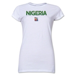 Nigeria FIFA Women's World Cup Canada 2015(TM) Junior Women's T-Shirt (White)