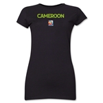 Cameroon FIFA Women's World Cup Canada 2015(TM) Junior Women's T-Shirt (Black)