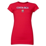 Costa Rica FIFA Women's World Cup Canada 2015(TM) Junior Women's T-Shirt (Red)