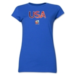 USA FIFA Women's World Cup Canada 2015(TM) Junior Women's T-Shirt (Royal)