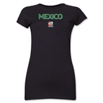 Mexico FIFA Women's World Cup Canada 2015(TM) Junior Women's T-Shirt (Black)
