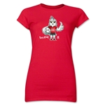 FIFA Women's World Cup Canada 2015(TM) Junior Women's Mascot 1 T-Shirt (Red)
