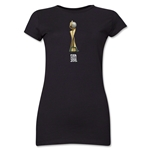 FIFA Women's World Cup Canada 2015(TM) Junior Women's Trophy II T-Shirt (Black)