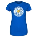 Leicester City Crest Junior Women's T-Shirt (Royal)