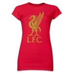 Liverpool Liver Bird Junior Women's T-Shirt (Red)