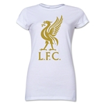 Liverpool Liver Bird Junior Women's T-Shirt (White)