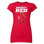 Liverpool Mascot Junior Women's T-Shirt (Red)