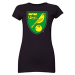Norwich City Core Junior Women's T-Shirt (Black)