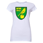 Norwich City Core Junior Women's T-Shirt (White)