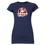 FC Santa Claus Animated Santa Jr. Women's T-Shirt (Navy)