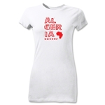 Algeria Junior Women's Country T-Shirt (White)