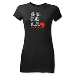 Angola Junior Women's Country T-Shirt (Black)