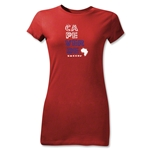 Cape Verde Junior Girls Country T-Shirt (Red)