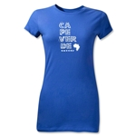 Cape Verde Junior Women's Country T-Shirt (Royal)