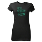 Nigeria Junior Women's Country T-Shirt (Black)