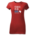Congo DR Junior Women's Country T-Shirt (Red)