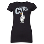 Swansea City Cyril Junior Women's T-Shirt (Black)