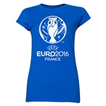 Euro 2016 Core Emblem Junior Women's T-Shirt (Royal)