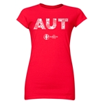 Austria Euro 2016 Elements Junior Women's T-Shirt (Red)