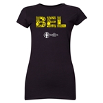 Belgium Euro 2016 Elements Junior Women's T-Shirt (Black)