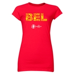 Belgium Euro 2016 Elements Junior Women's T-Shirt (Red)