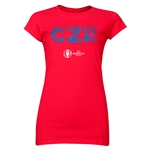 Czech Republic Euro 2016 Element Junior Women's T-Shirt (Red)
