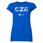 Czech Republic Euro 2016 Element Junior Women's T-Shirt (Royal)