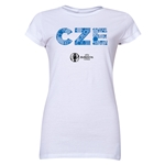 Czech Republic Euro 2016 Elements Junior Women's T-Shirt (White)
