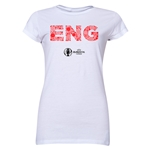 England Euro 2016 Element Junior Women's T-Shirt (White)