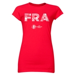 France Euro 2016 Elements Junior Women's T-Shirt (Red)