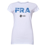 France Euro 2016 Elements Junior Women's T-Shirt (White)