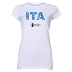 Italy Euro 2016 Element Junior Women's T-Shirt (White)