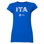 Italy Euro 2016 Element Junior Women's T-Shirt (Royal)
