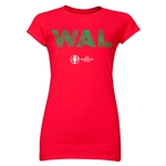 Wales Euro 2016 Element Junior Women's T-Shirt (Red)