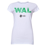 Wales Euro 2016 Elements Junior Women's T-Shirt (White)