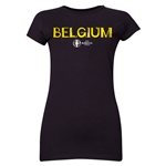 Belgium Euro 2016 Core Junior Women's T-Shirt (Black)