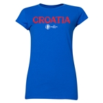 Croatia Euro 2016 Core Junior Women's T-Shirt (Royal)