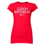 Czech Republic Euro 2016 Core Junior Women's T-Shirt (Red)