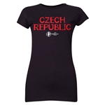 Czech Republic Euro 2016 Core Junior Women's T-Shirt (Black)