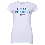 Czech Republic Euro 2016 Core Junior Women's T-Shirt (White)