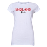 England Euro 2016 Core Junior Women's T-Shirt (White)