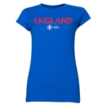 England Euro 2016 Core Junior Women's T-Shirt (Royal)