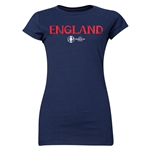 England Euro 2016 Core Junior Women's T-Shirt (Navy)