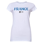 France Euro 2016 Core Junior Women's T-Shirt (White)