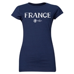 France Euro 2016 Core Junior Women's T-Shirt (Navy)