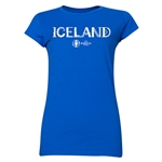 Iceland Euro 2016 Core Junior Women's T-Shirt (Royal)